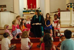 Pastor Gail shared the Word with the children of the church.